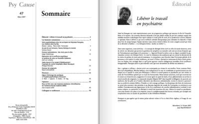 Revue N°47 Psy Cause – 1er trimestre 2007