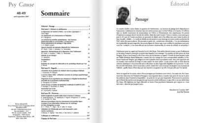 Revue N°48-49 Psy Cause Septembre 2007